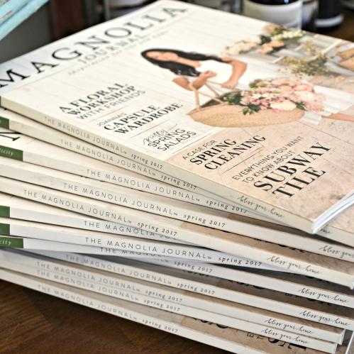 magazine closeup