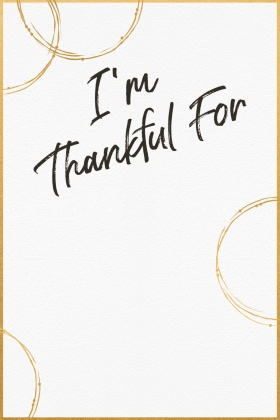 Gold Hoop Thankful Tag