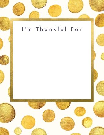 Golden Thankful Tag
