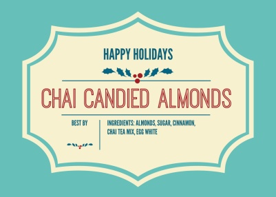Holiday Chai Candied Almonds KC