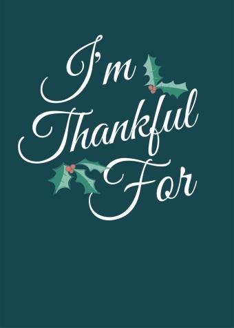 Holly Thankful Tag