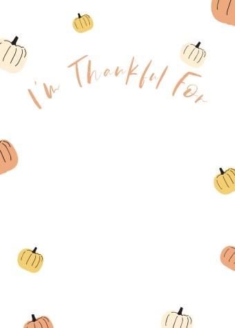 Pumpkin Thankful Tag