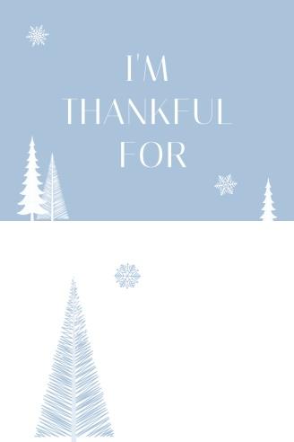 Snow Thankful Tag